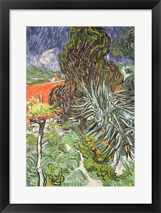 Framed Garden of Doctor Gachet at Auvers-sur-Oise, 1890 Print
