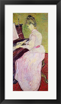 Framed Marguerite Gachet at the Piano, 1890 Print