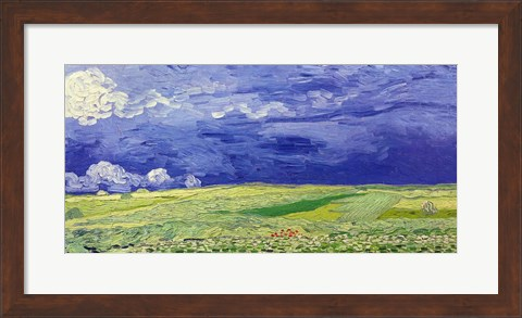 Framed Wheatfields under Thunderclouds, 1890 Print