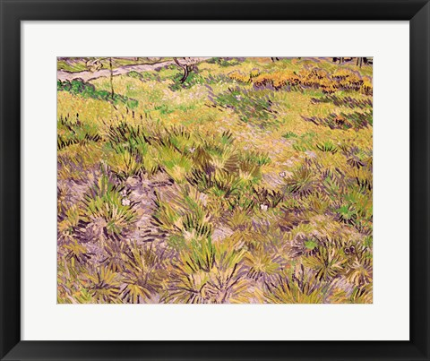 Framed Meadow with Butterflies, 1890 Print