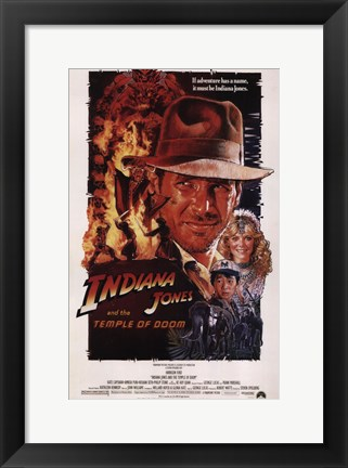 Framed Indiana Jones and the Temple of Doom Print