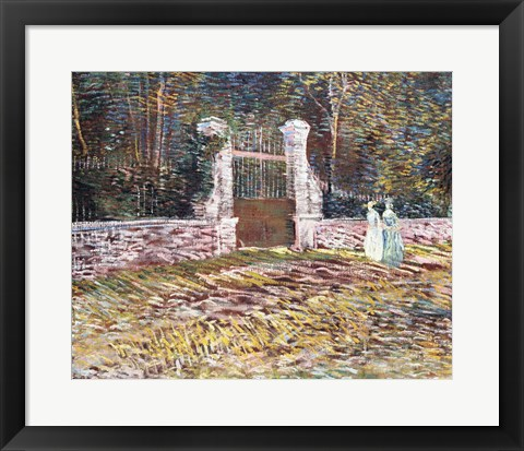Framed Entrance to the Voyer-d'Argenson Park at Asnieres Print