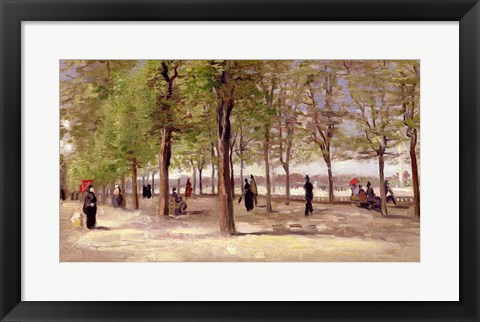 Framed Terrace in the Luxembourg Garden, 1886 Print