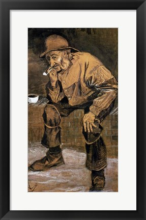 Framed Old man with a pipe, 1883 Print