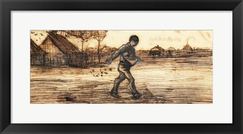 Framed Sower Print