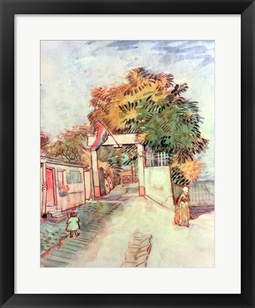 Framed French Street Scene Print