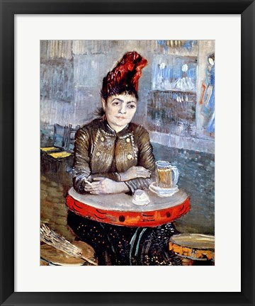 Framed Woman in the 'Cafe Tambourin', 1887 Print