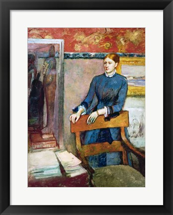 Framed Helene Rouart in her Father's Study Print