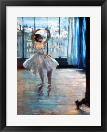 Framed Dancer in Front of a Window Print
