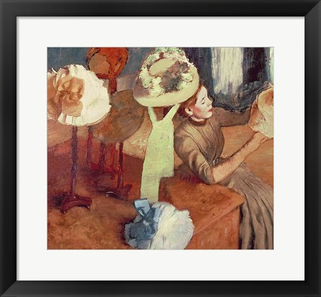 Framed Millinery Shop Print
