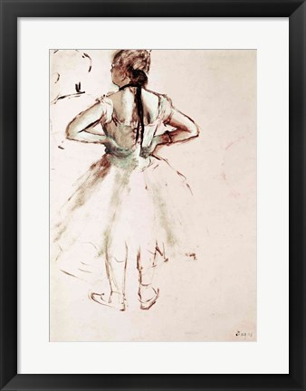 Framed Dancer viewed from the back Print