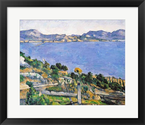Framed L'Estaque, View of the Bay of Marseilles Print