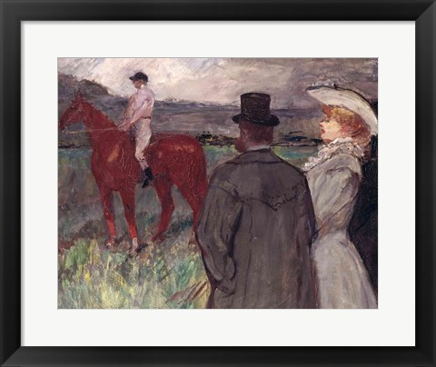 Framed At the Racecourse, 1899 Print