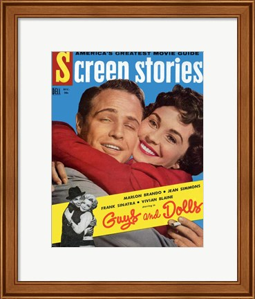 Framed Guys and Dolls Screen Stories Print