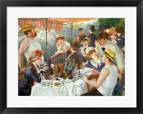 Framed Luncheon of the Boating Party, 1881 Print