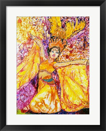 Framed Feather Dancer Print
