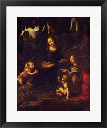 Framed Madonna of the Rocks, c.1478 Print