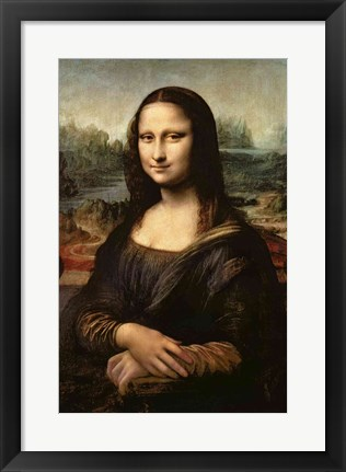 Framed Mona Lisa, c.1503-6 Print
