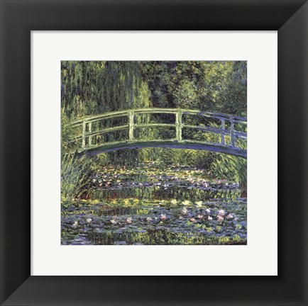 Framed Water Lily Pond, 1899 (blue) Print