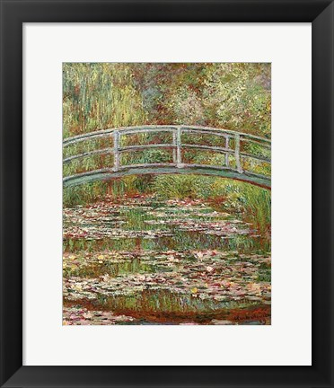 Framed Water Lily Pond, 1899 Print