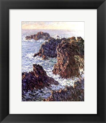 Framed Rock Points at Belle-Ile, 1886 Print