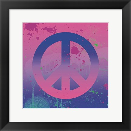 Framed Psychedelic Peace Print