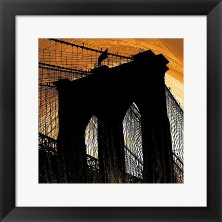 Framed Brooklyn Glow Print