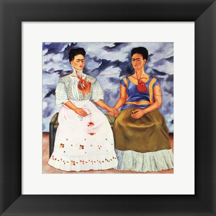 Framed Two Fridas, 1939 Print