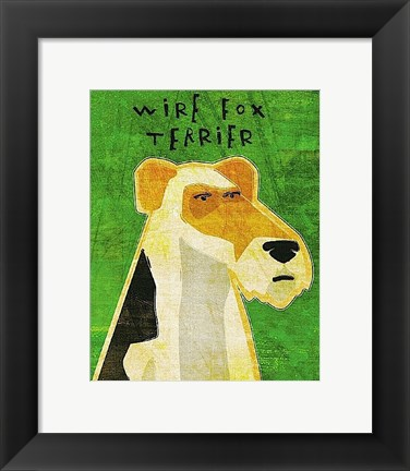 Framed Wire Fox Terrier Print