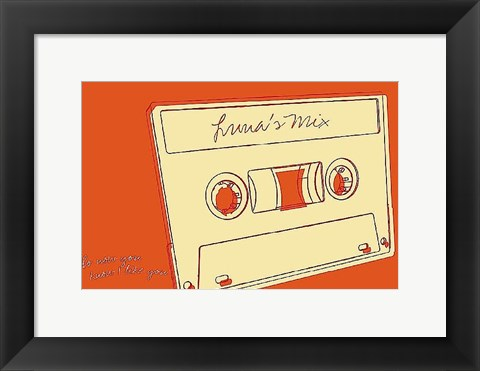 Framed Lunastrella Mix Tape Print