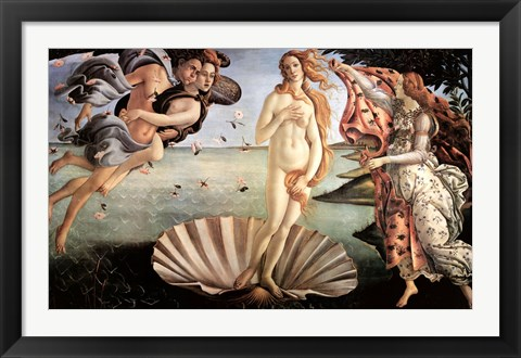 Framed Birth of Venus Print