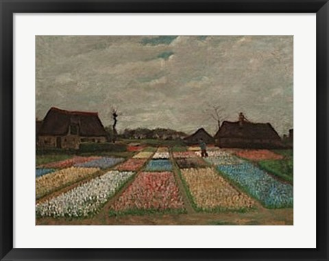 Framed Flower Beds in Holland, c. 1883 Print