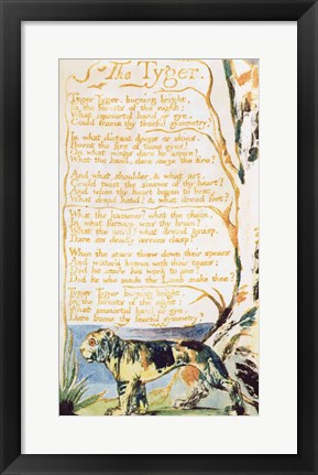 Framed Tyger, from Songs of Innocence Print