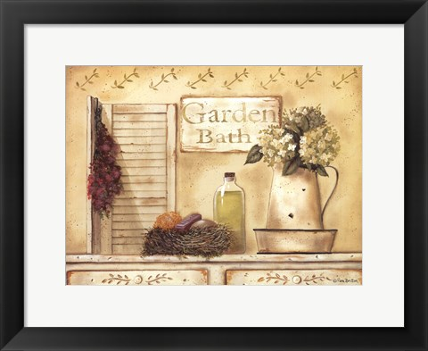 Framed Garden Bath Print