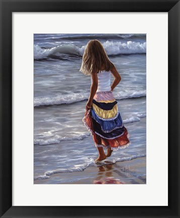 Framed Striped Skirt Print