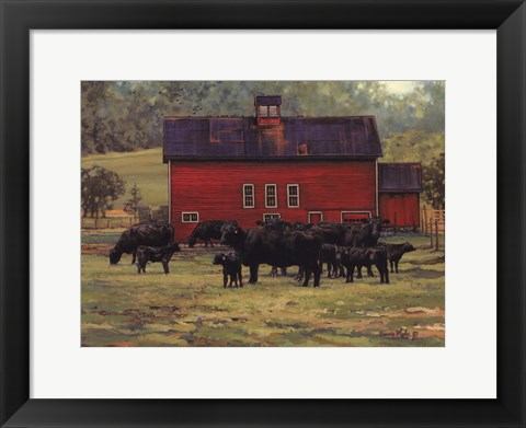 Framed By the Red Barn Print
