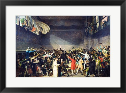 Framed Tennis Court Oath, 20th June 1789 Print