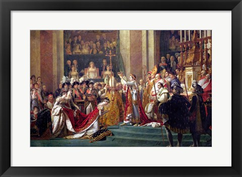 Framed Consecration of the Emperor Napoleon I Detail Print