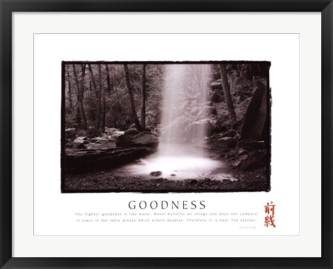 Framed Goodness - Waterfall Print
