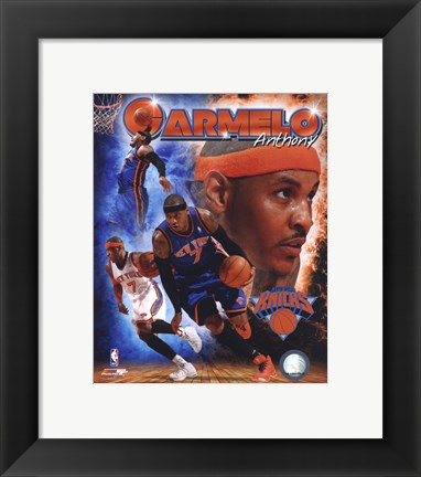 Framed Carmelo Anthony 2011 Portrait Plus Print