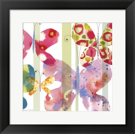 Framed Butterfly Square II Print