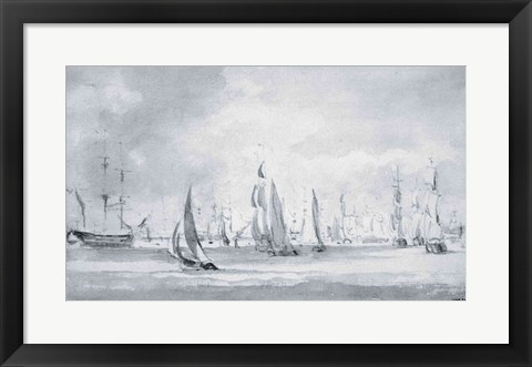 Framed Shipping in the Thames Print