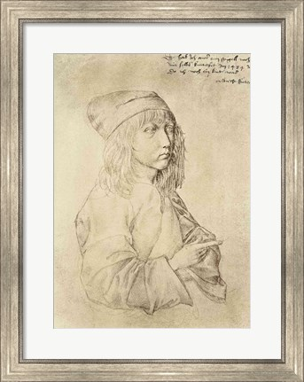 Framed Self portrait at the age of thirteen, 1484 Print