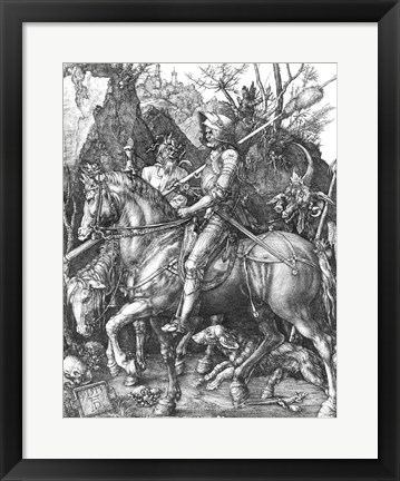Framed Knight, Death and the Devil, 1513 Print