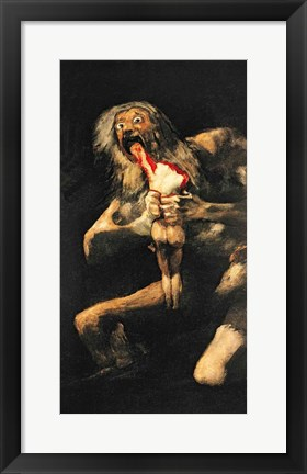 Framed Saturn Devouring one of his Children, 1821-23 Print