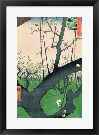 Framed Branch of a Flowering Plum Tree Print
