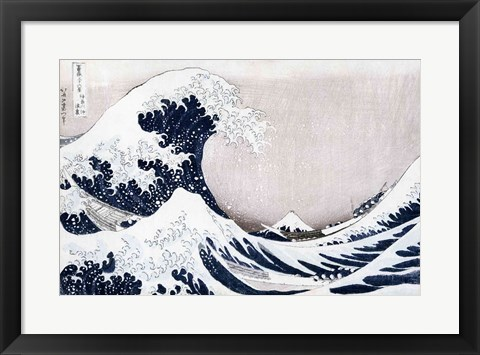 Framed Great Wave of Kanagawa Print