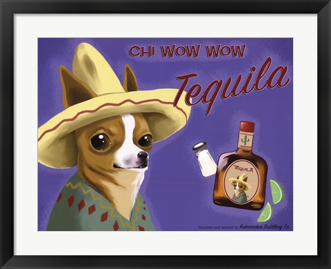 Framed Chi Wow Wow Tequila Print