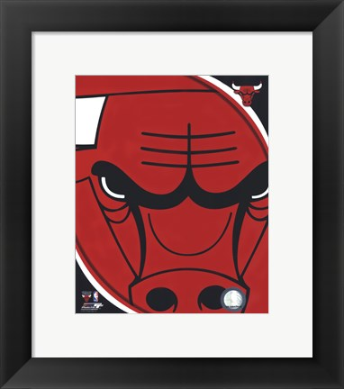 Framed Chicago Bulls Team Logo Print