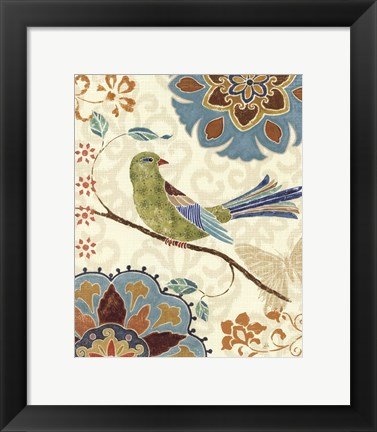 Framed Eastern Tales Birds II Print